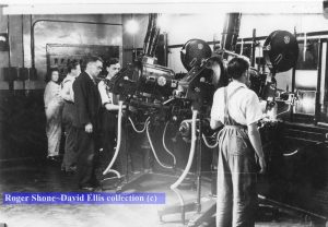 The projection team at work during the 40s