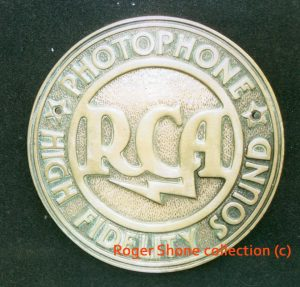 RCA sign from the Tatler/Classic, given to Roger Shone by Jack Lightfoot, the final chief projectionist.